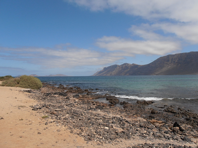 Famara Beach in front of the house